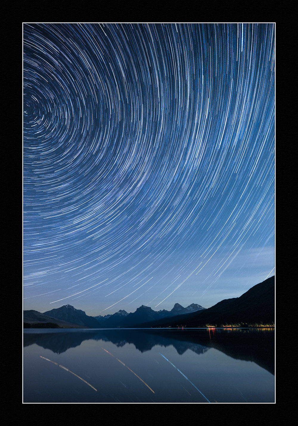 Star Circles Over Lake McDonald. © 2015 Gabriel Biderman.