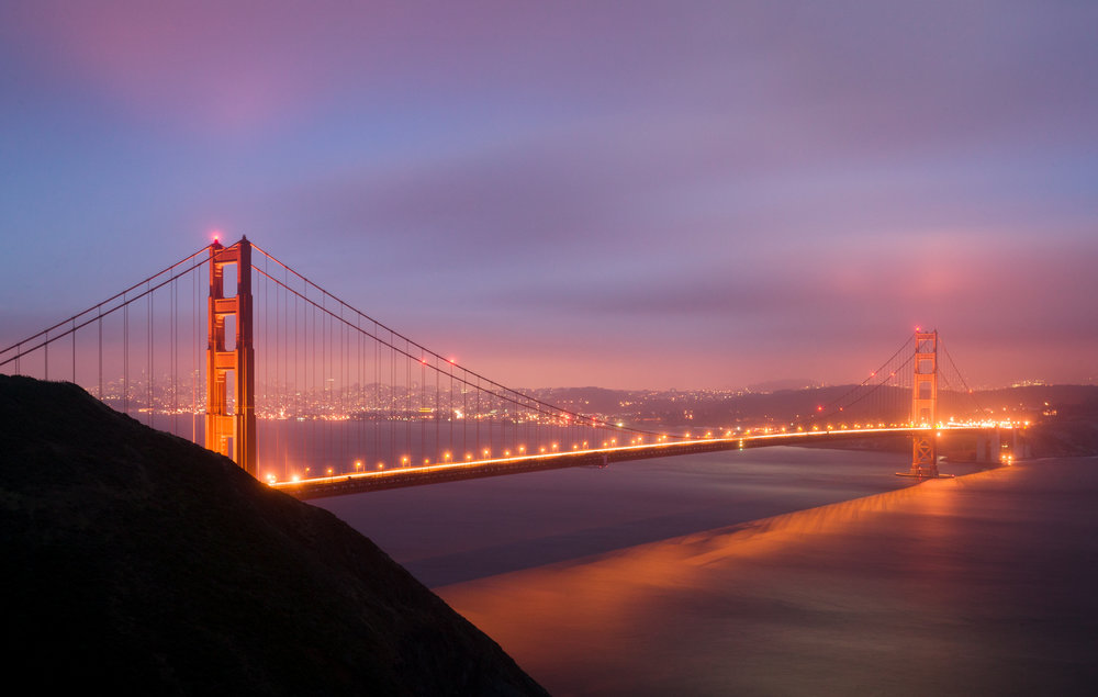Golden Gate Evening ,Fog,
