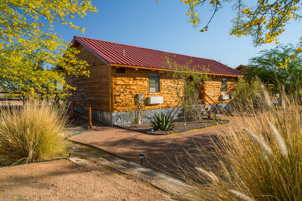Texas, Terlingua, Far Flung Outdoor Center, Big Bend Casitas with landscaping