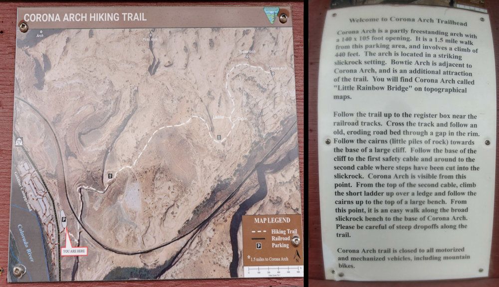 Before heading off on a trail I'm unfamiliar with (in the dark, no less), I took cell-phone pictures of the map and directions posted at the trailhead. It was useful info when I didn't know where to turn.