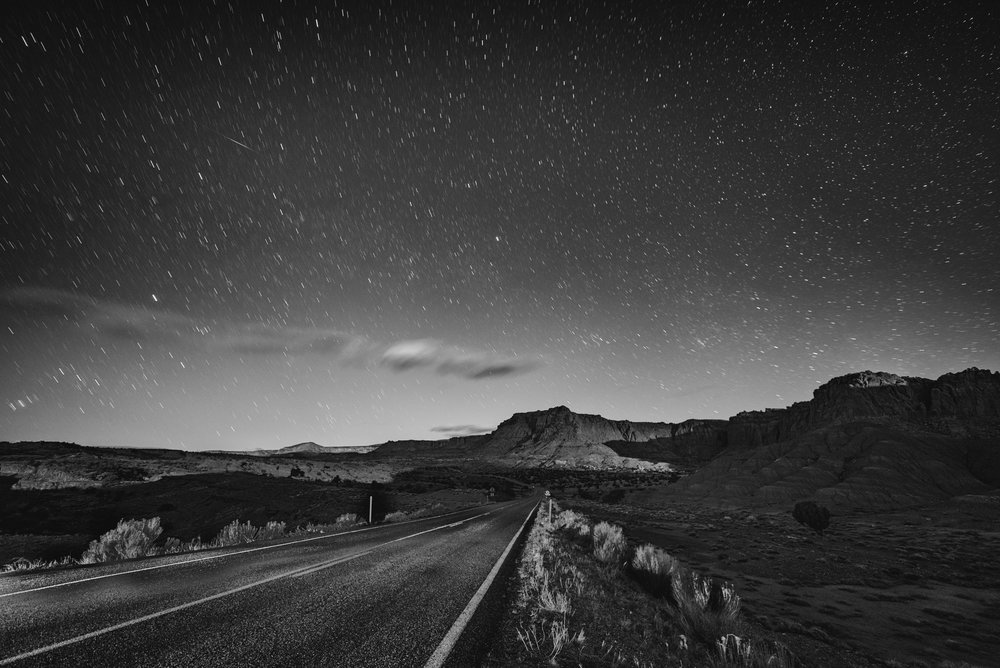 The night skies of Capitol Reef National Park are worth a trip. Nikon D750,  Zeiss 15mm Distagon f/2.8  lens. 154 seconds, f/4, ISO 100. Photo © 2016 Matt Hill.