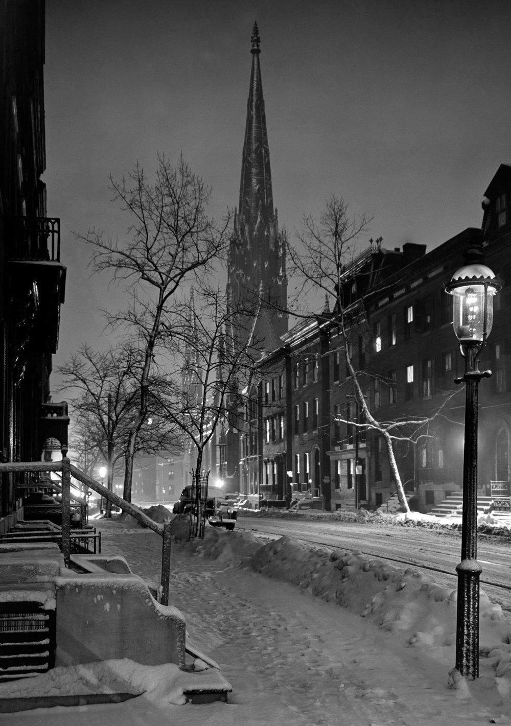 Snow, Park Ave., 1948