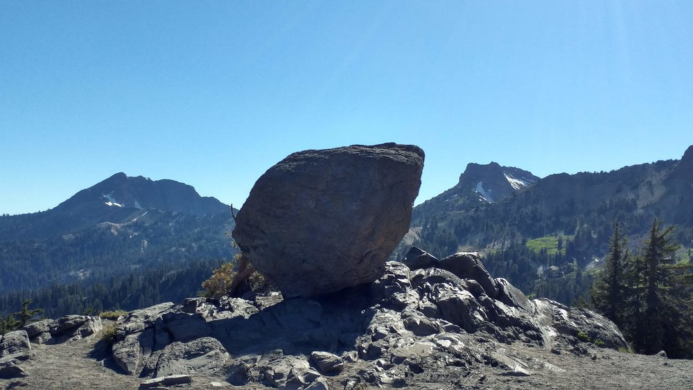 A scouting photo of the boulder.