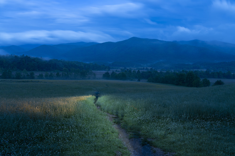 Cades Cove, Great Smoky Mountains National Park.  Nikon D850  with a  Sigma 35mm f/1.4 Art  lens. 30 seconds, f/5.6, ISO 64. © 2018 Matt Hill.