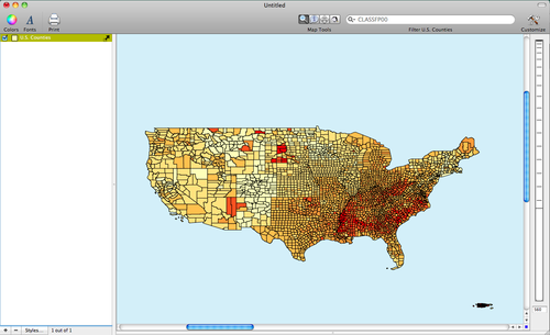 The Distribution Of Diabetes Across U S Counties