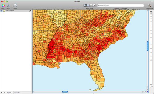Map Diabetes In The United States With CDC Data Cartographica - Diabetics map us