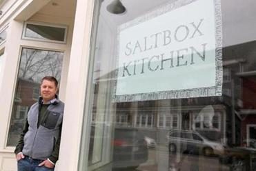 Chef-founder Ben Elliott at Saltbox Kitchen.    Photo Credit: Suzanne Kreiter/Boston Globe Staff