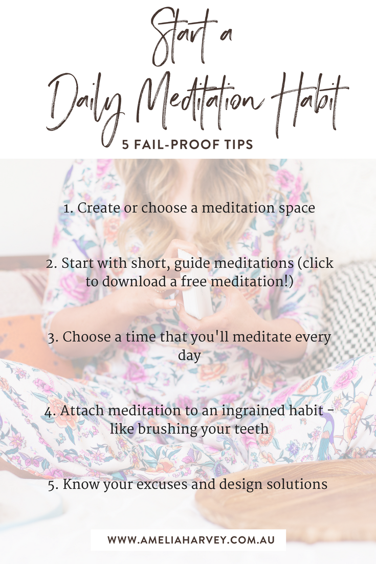 5 Fail-Proof tips to Start a Daily Meditation Habit.png