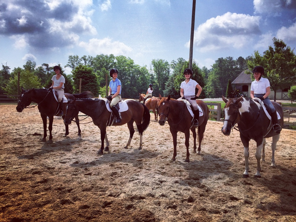 Birmingham Equestrian Team Practicing at Clairmont Show Stables