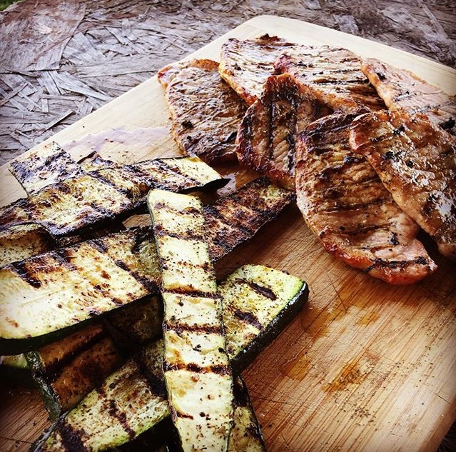 grilled zucchini, pork chops.jpg