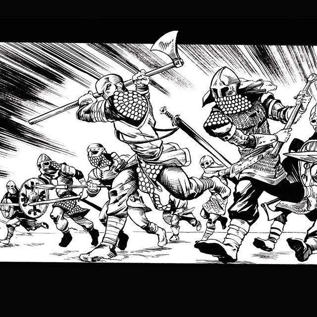 AAAAAARRRG! #viking #vikings #vikingbattle #armour #vikingweapons #vikingwear #comic #indiecomics #indiecomic #vikingcomic