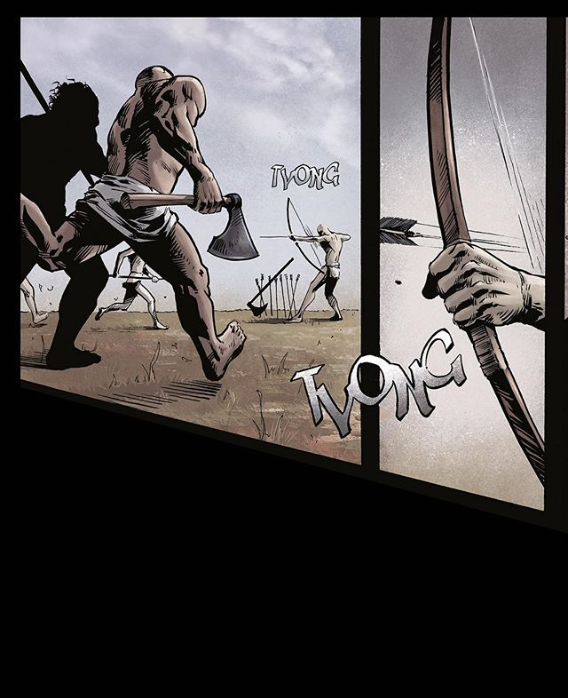 A frame from VARGÖLD Book two.  #viking #vikings #bow #bowman #arrow #comic #comicbook #graphicnovel