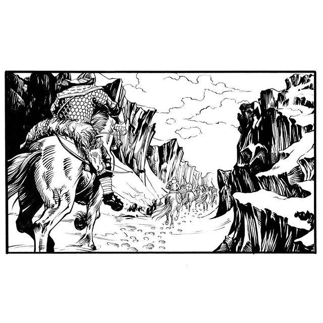 Riders. Inked frame from VARGÖLD Book two. #riding #ridingvikings #vikingsriding #vikings #deadsheap