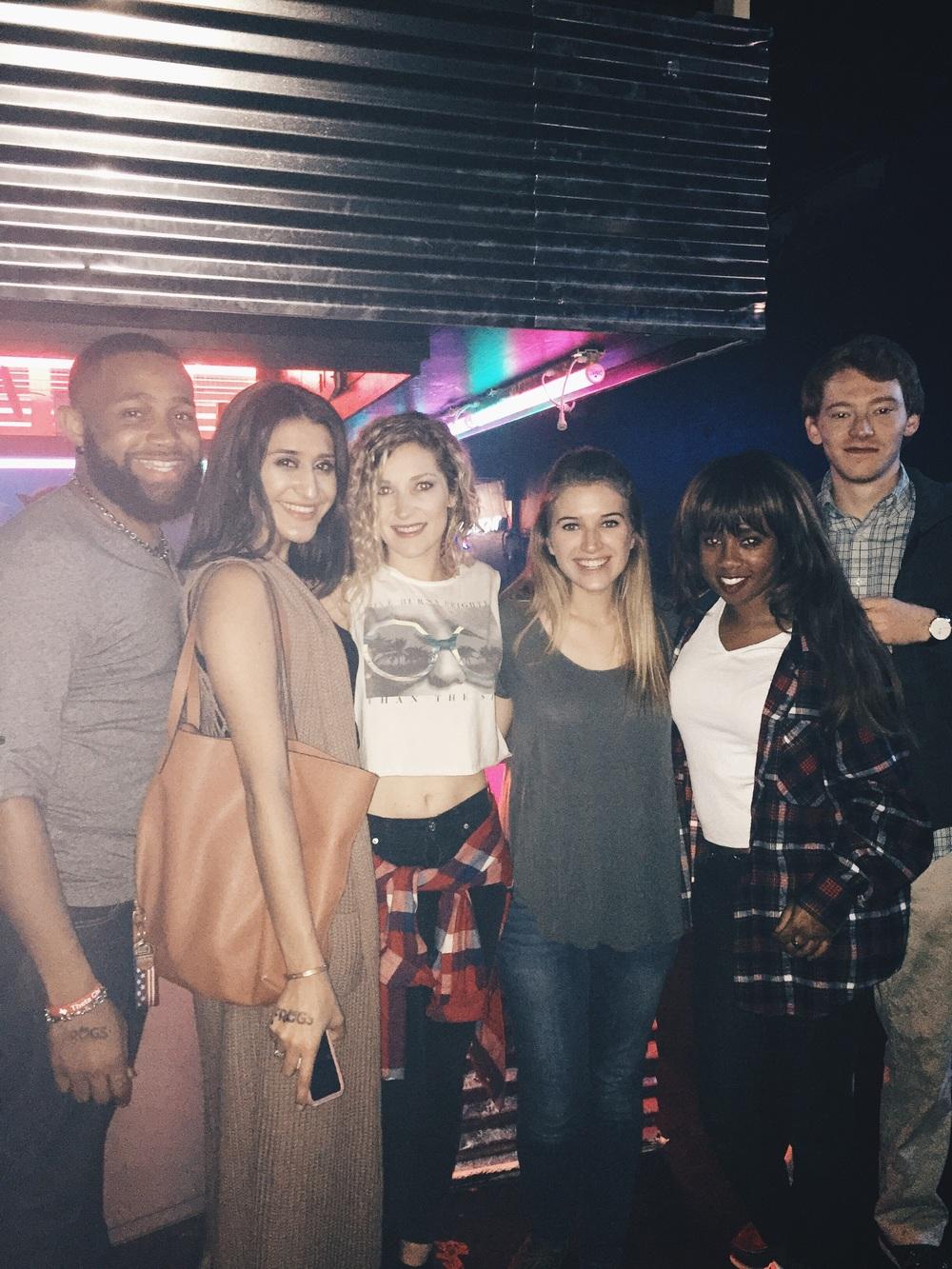 Jermaine, Eri, Amber, Ryan, Chelsea, and Wil