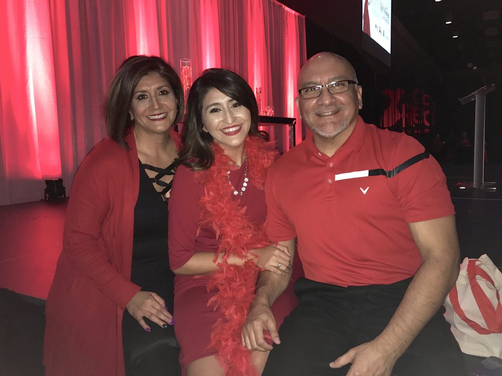 Mom and Dad rocking their red at the luncheon!