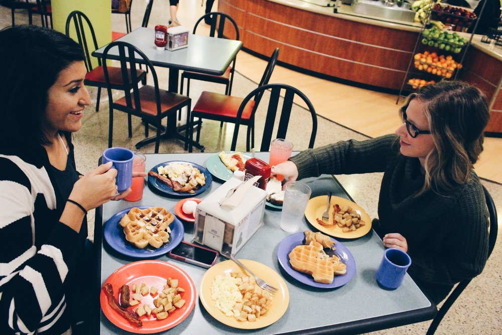 2014 - The only two best friends you'll ever know that had breakfast together every single morning.. and never sat at the same table. What can I say? Mae is not a morning person! Haha! We went back for one final breakfast together at the SFA cafeteria before we graduated.