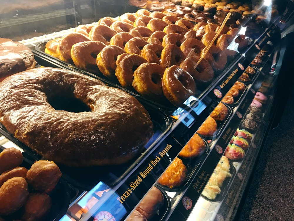 More than just donuts. You'll find cakes, pastries, and kolaches at Round Rock Donuts as well!