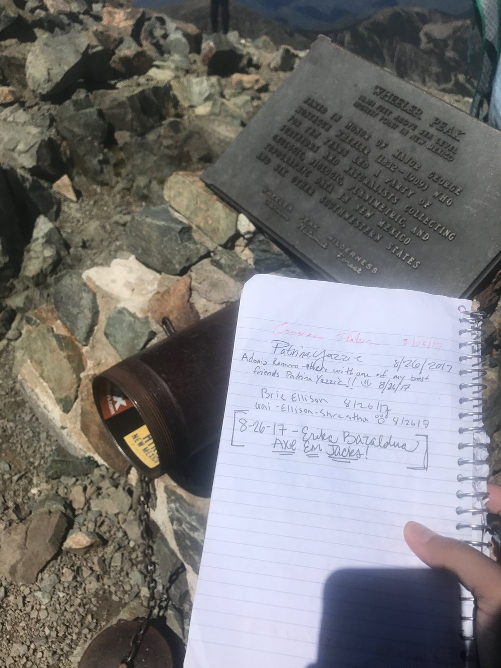 To those who've have come before you... and those who will follow. - My signature joined hundreds of other names who are saved in a canon at the top of the Mountain. A beautiful tribute.