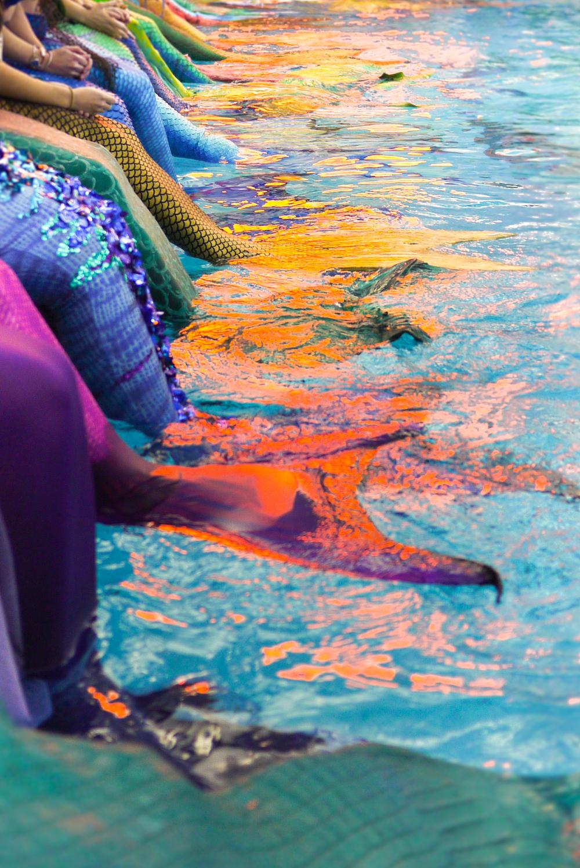 Merfolktaking in the rays at Merfest 2015