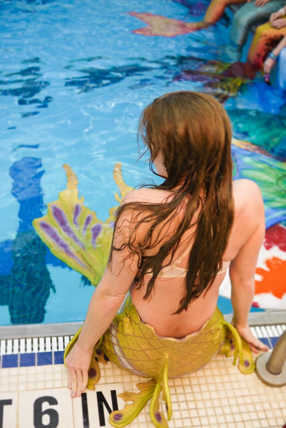 Poolside at Merfest 2015
