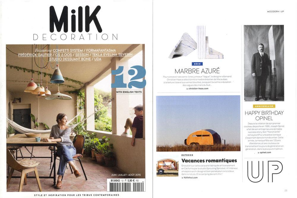 Milk Decoration Magazine  Issue no. 12, June/July 2015, France
