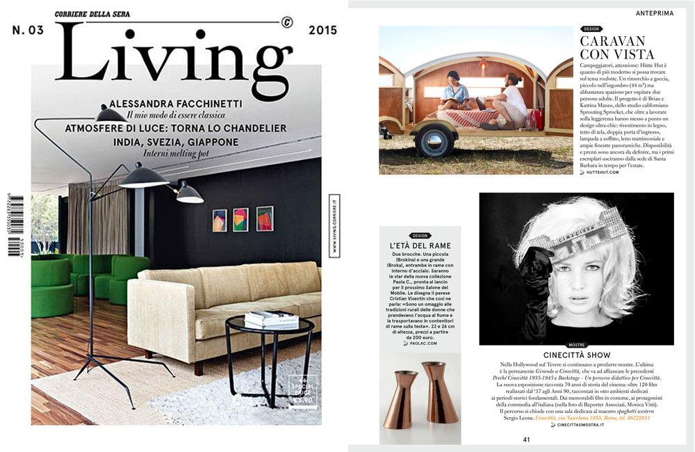 Corriere della Sera  Living Magazine, Issue No. 3, Milan