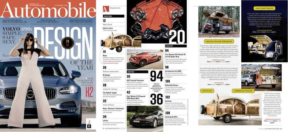 Automobile Magazine  Design Issue, January 2017