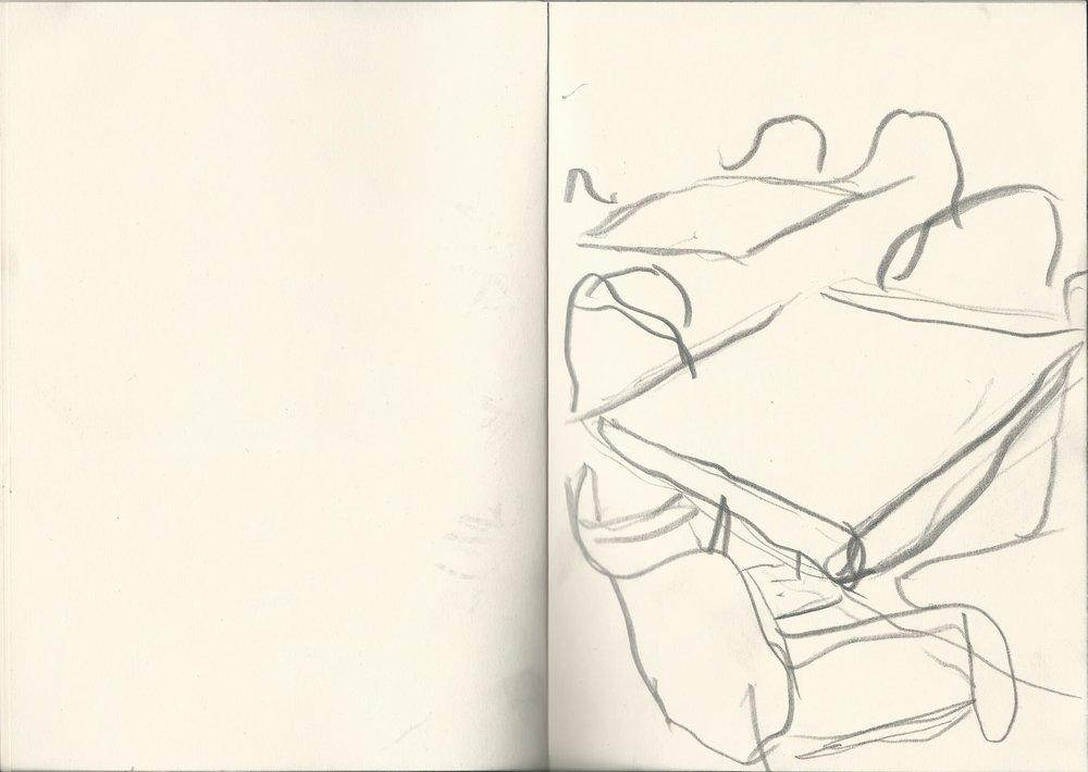Blyant på papir (21 x 14,8cm) 2017