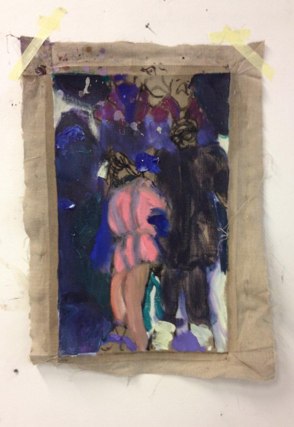 Publikum 1_Olje og kull på lin_77 x 56cm_2018