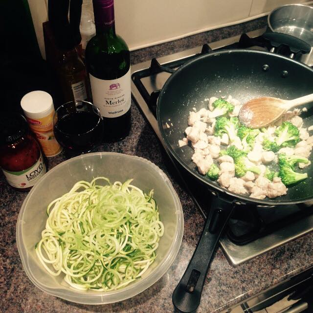 Sausage and Broccoli Courgetti Recipe