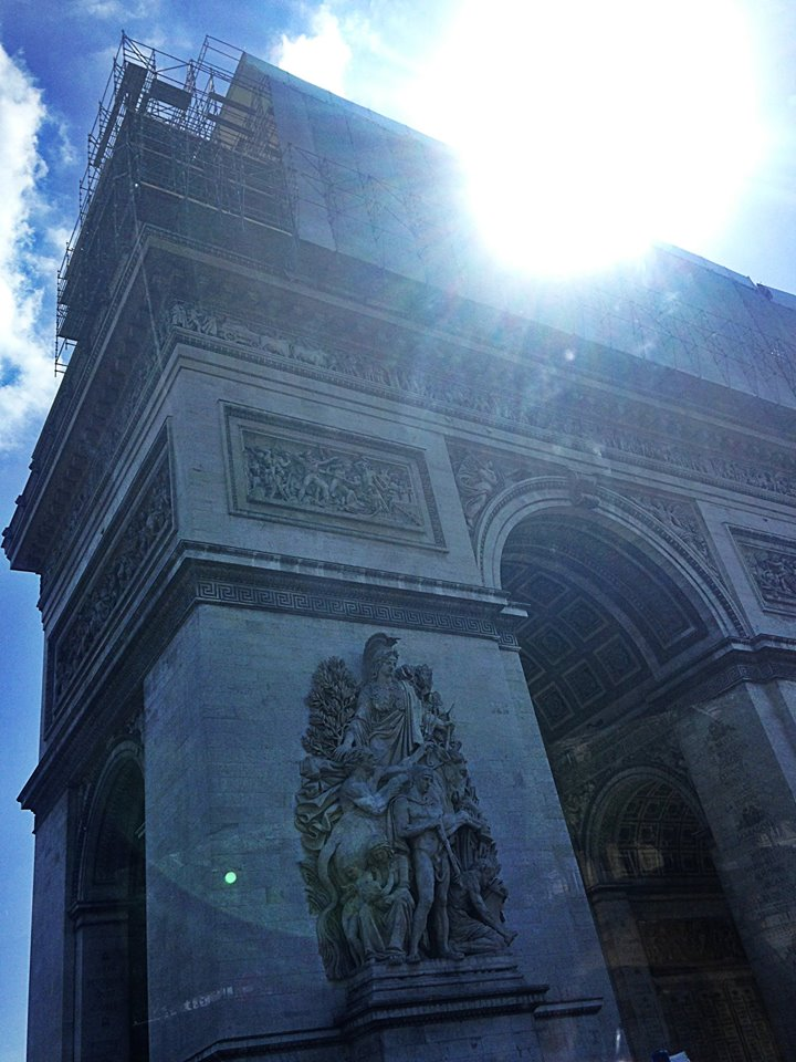 L'Arc de Triomphe      Paris, France      April 2014      Photographed by  Lina Abisoghomyan
