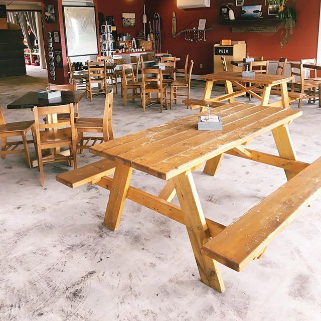Renovation complete. Took a little longer than expected, but it is finished and we are ready to re-open tomorrow. Come check out our handy work. #renovation #concretefloor #restaurantrenovation