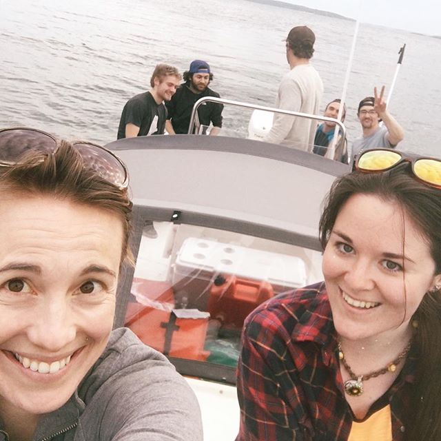 Post renovation boat ride with the crew because they are the best ever #maine #boatlife