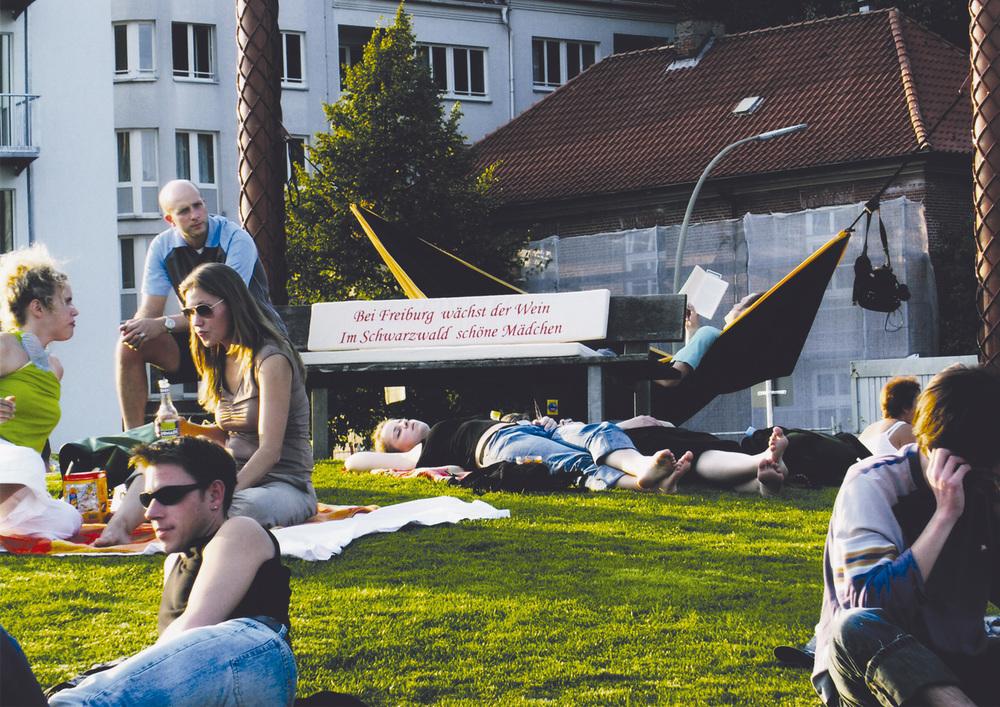 Schwarzwald grüßt St.Pauli    Arbeit von Anna Koch, 2003    Ort: Park Fiction
