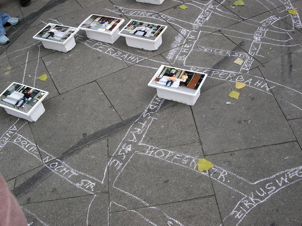 Arbeit von  Nadirah Habib 2003  Ort: Hans- Albers- Platz