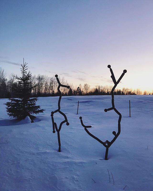 Winter acrobatics ❄️ #minnesotaartist #metalart #achillwindsmetalart #myminnesota #mnart