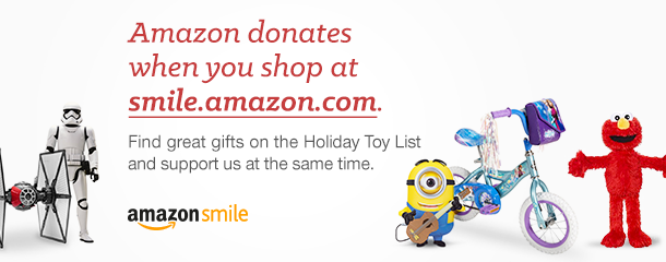 When you're shopping on Amazon this holiday season, be sure to use our special fundraising link.