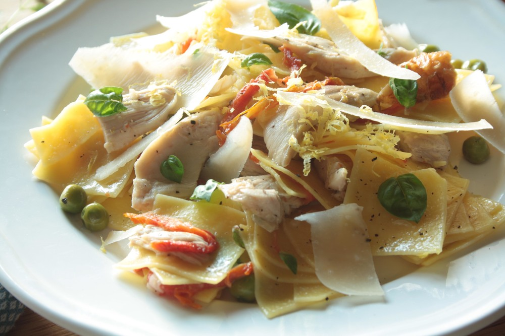 Maltagliati with Pan-roasted Chicken