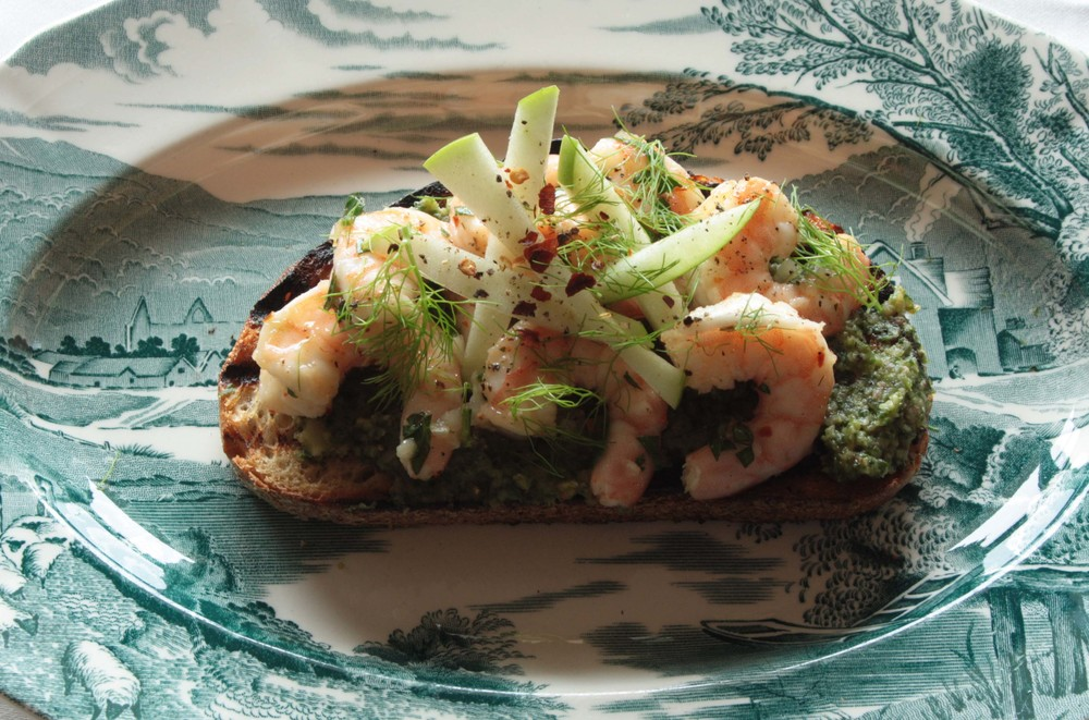 Limoncello Shrimp Toast