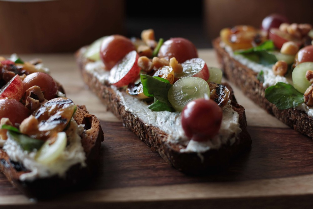 Warm Grape Crostini