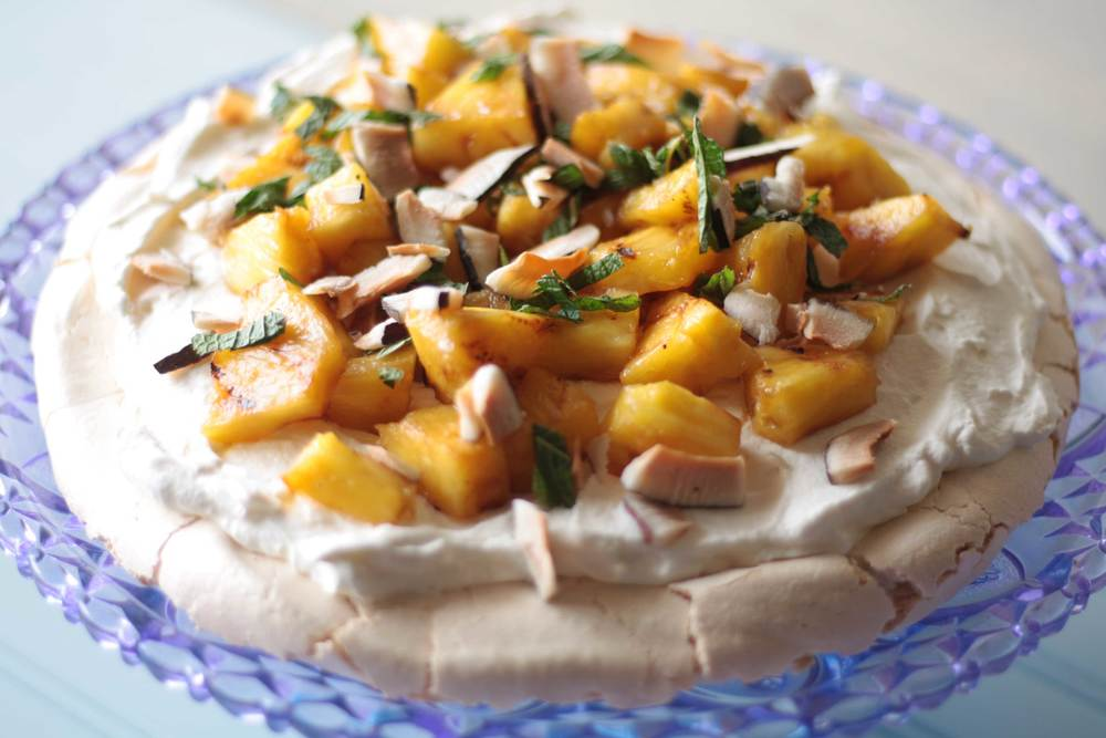 Grilled Pineapple Pavlova