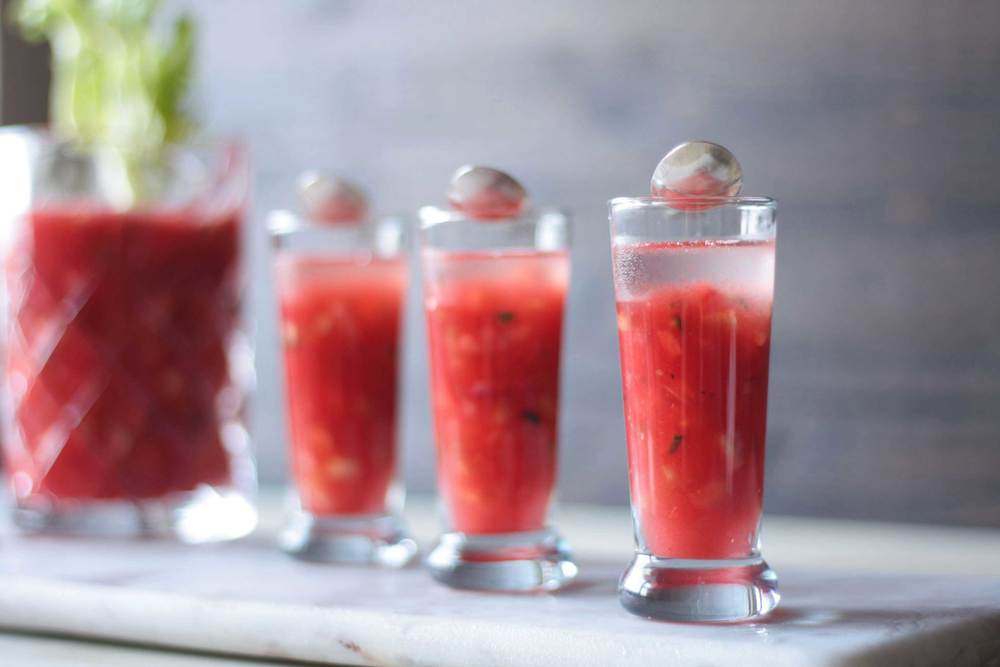 Watermelon Gazpacho Shots