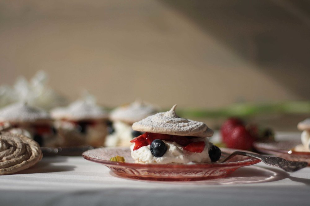 Meringue and Market Fruit Napoleons