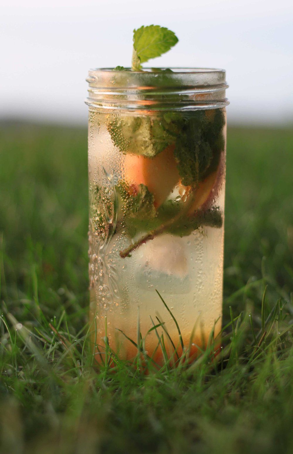 Peach and Cardamom Cooler