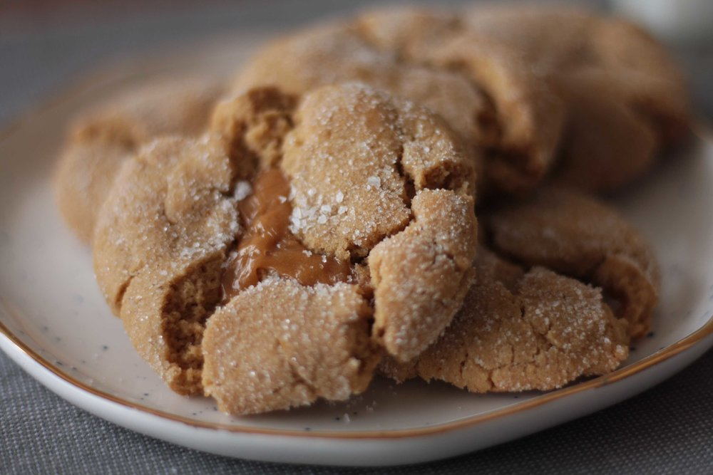 Salted Caramel and Fenugreek Snickerdoodles