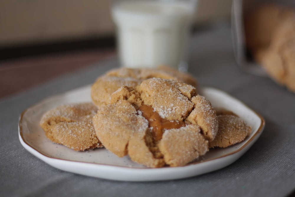 Salted caramel and fenugreek cookies