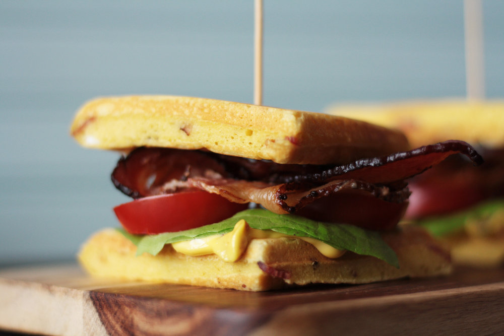 Triple Bacon BLTs with Roasted Garlic and Bacon Aioli
