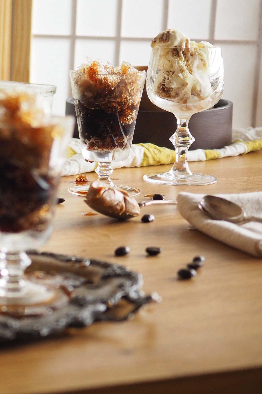 Speculoos Swirl Ice Cream + Coffee Granita