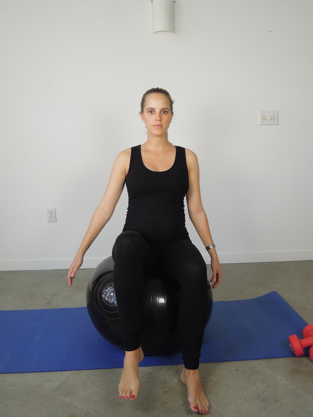 Sitting single leg balance