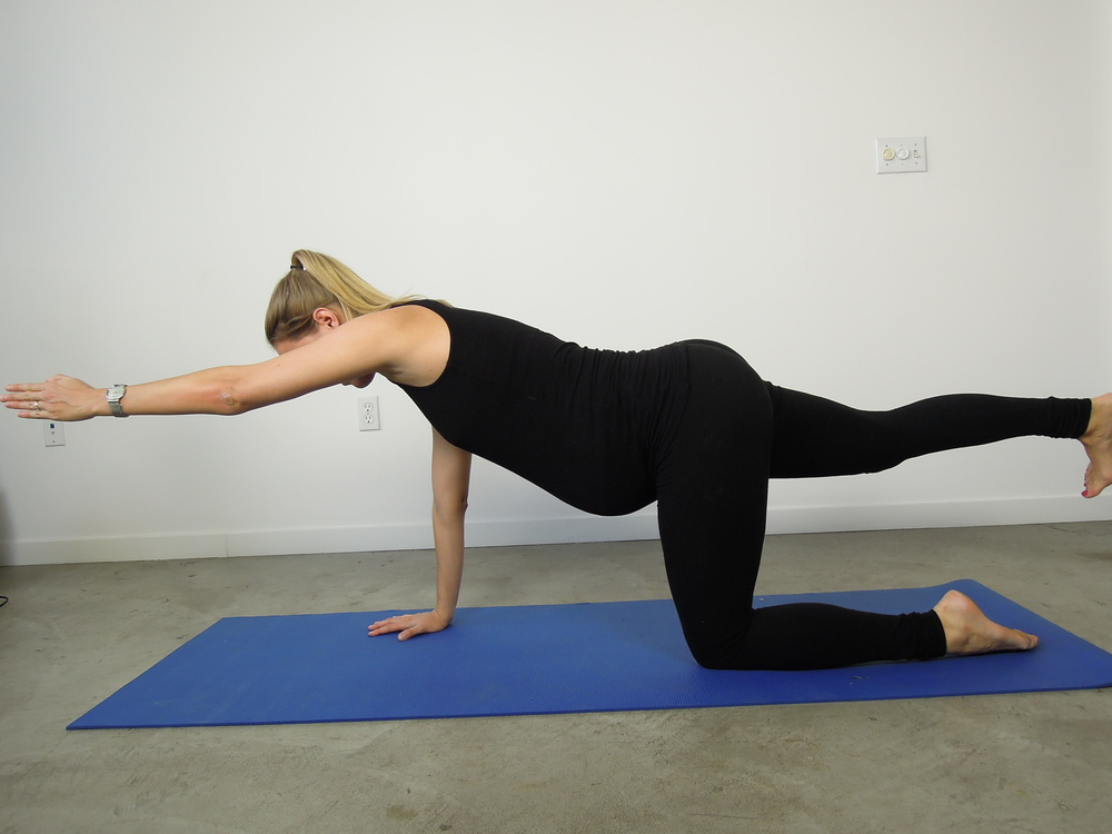 Opposite arm and leg extension